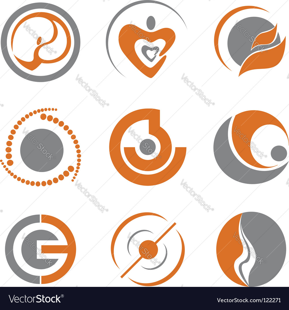Set of abstract symbols vector | Price: 1 Credit (USD $1)