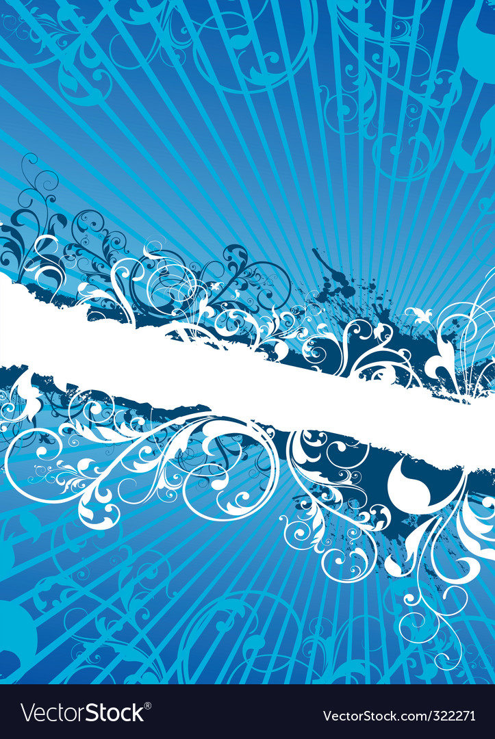 Swirling floral background banner vector   Price: 1 Credit (USD $1)