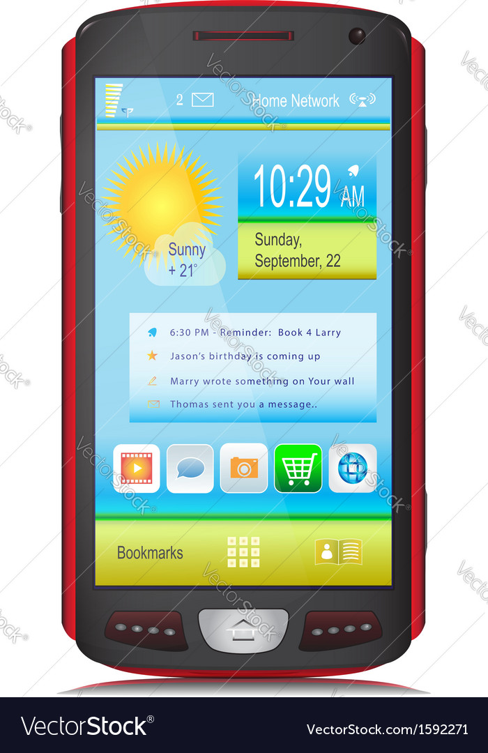 Touch screen mobile device vector | Price: 1 Credit (USD $1)