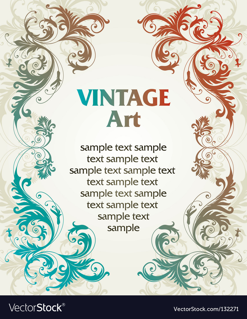 Vintage template frame vector | Price: 1 Credit (USD $1)