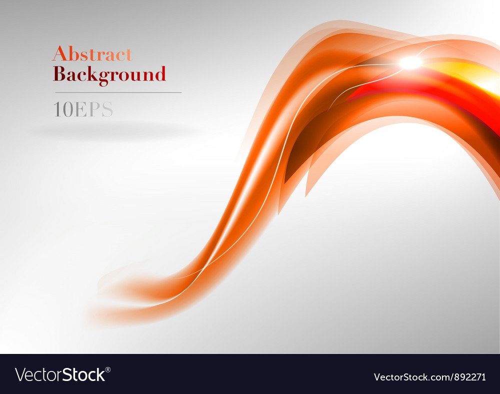 Wave neon light white curve orange and red vector | Price: 1 Credit (USD $1)