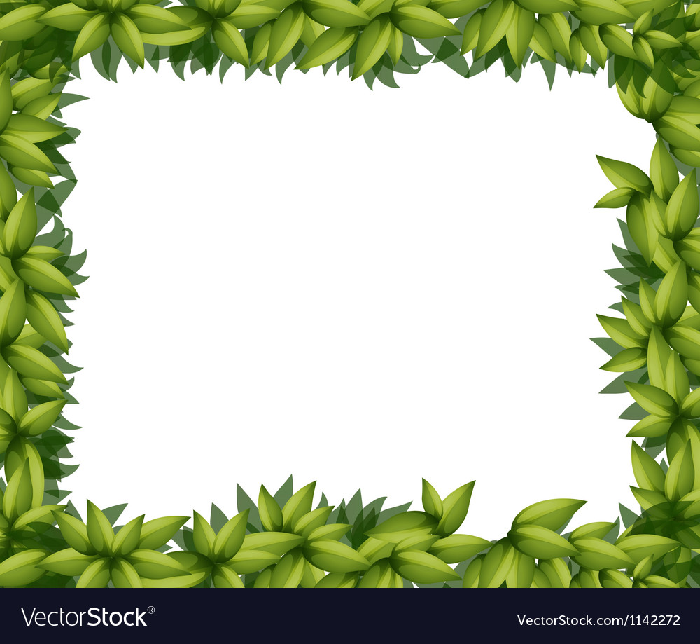 Border made of leaves vector   Price: 1 Credit (USD $1)