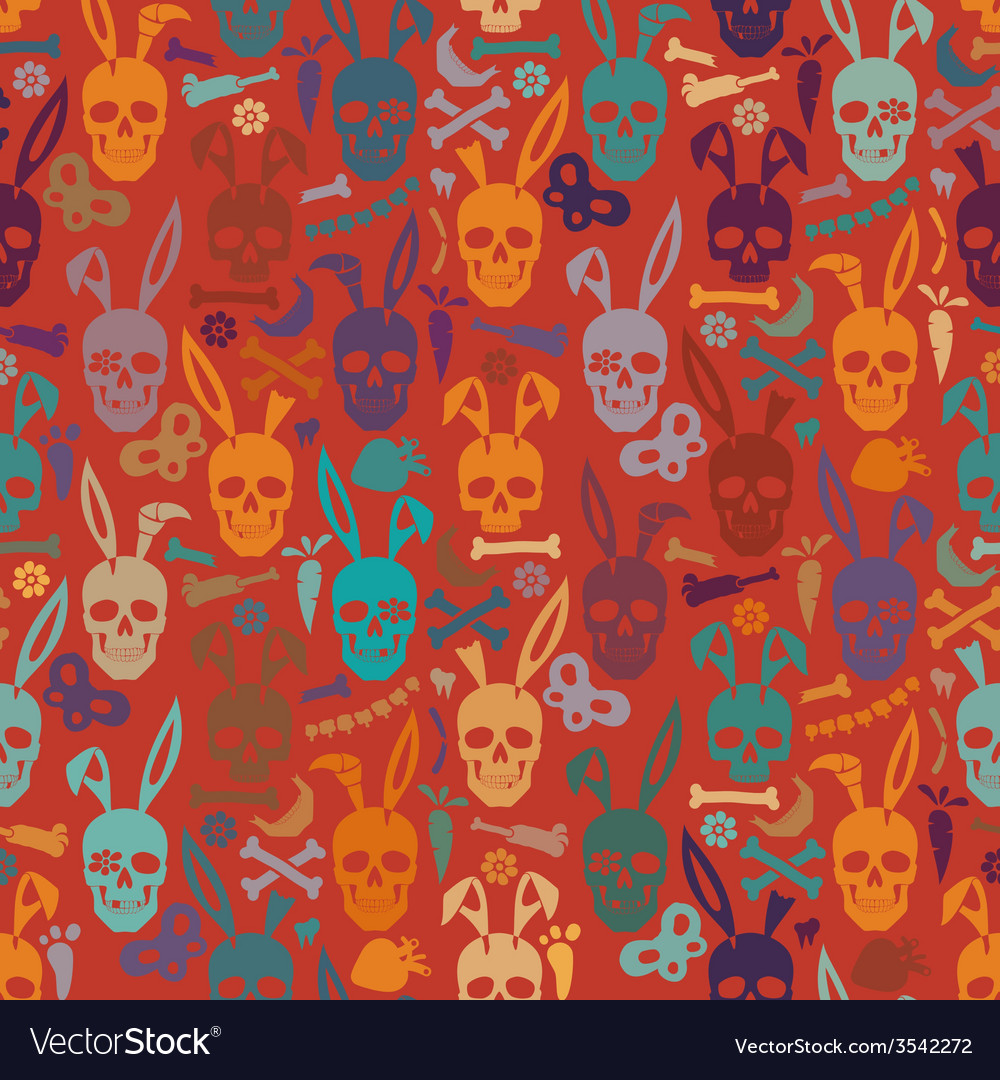 Bunny skull wallpaper vector | Price: 1 Credit (USD $1)