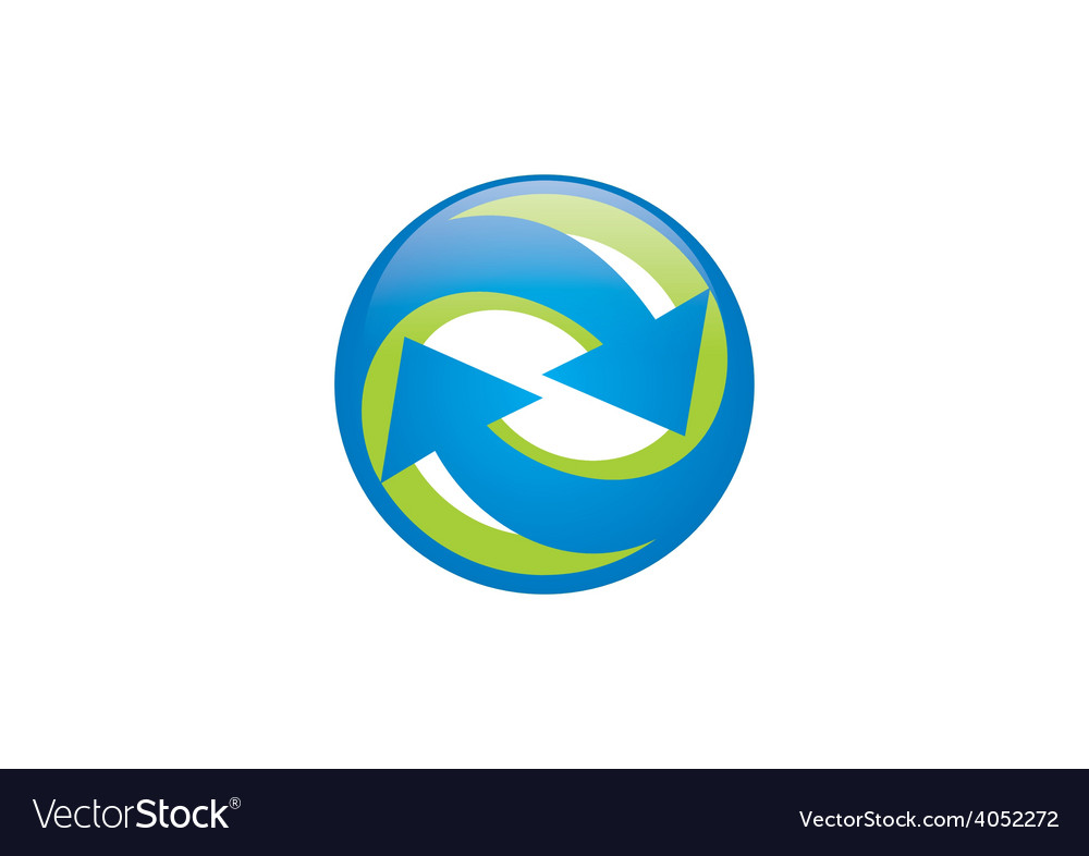 Circle arrow rounded logo vector | Price: 1 Credit (USD $1)