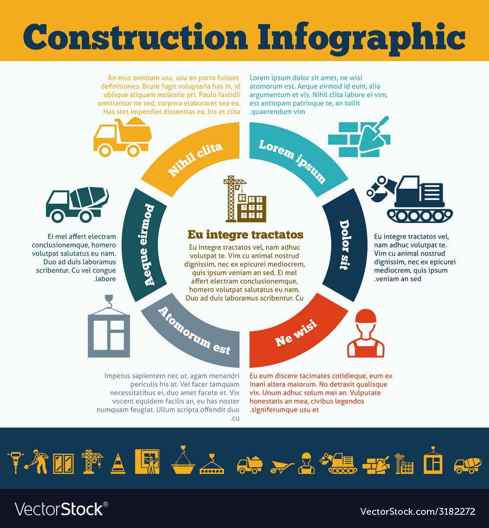Construction infographic print vector | Price: 1 Credit (USD $1)