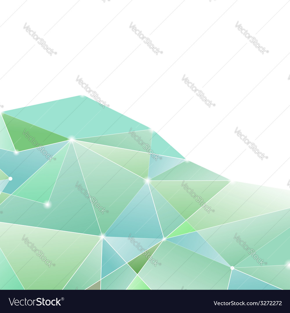 Crystal structure green border background vector | Price: 1 Credit (USD $1)