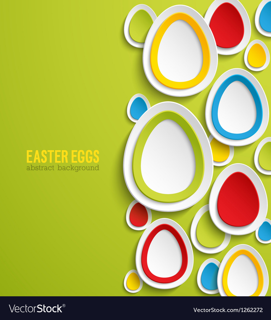Easter eggs abstract colorful background vector | Price: 1 Credit (USD $1)