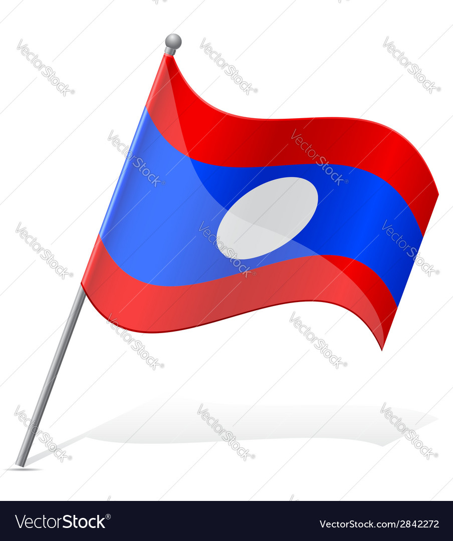 Flag of laos vector | Price: 1 Credit (USD $1)