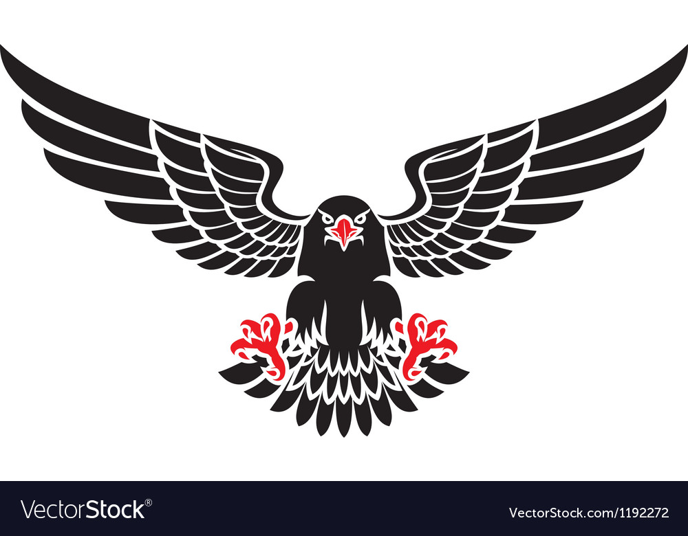 German black eagle vector | Price: 1 Credit (USD $1)