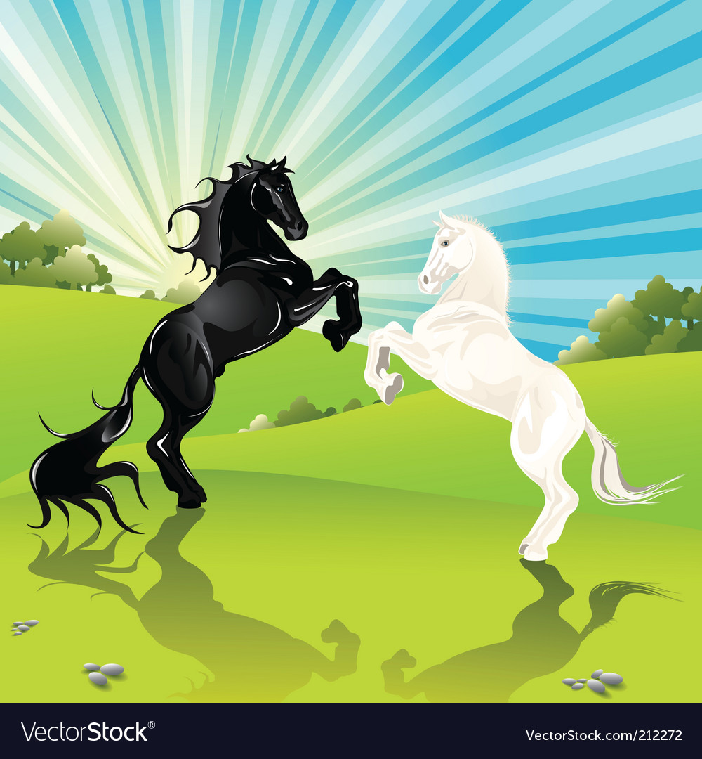 Horses vector | Price: 5 Credit (USD $5)