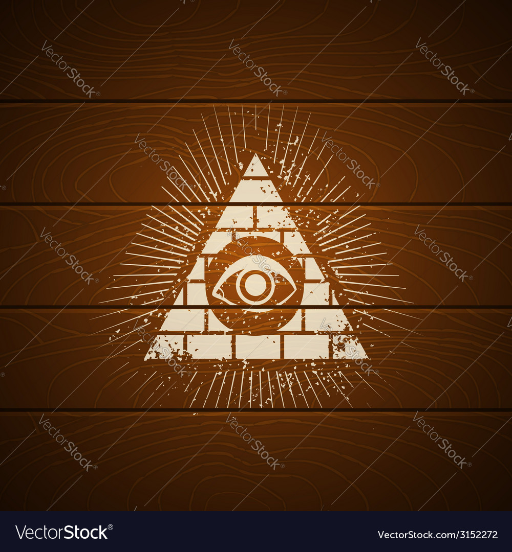 Pyramid on wooden background vector | Price: 1 Credit (USD $1)