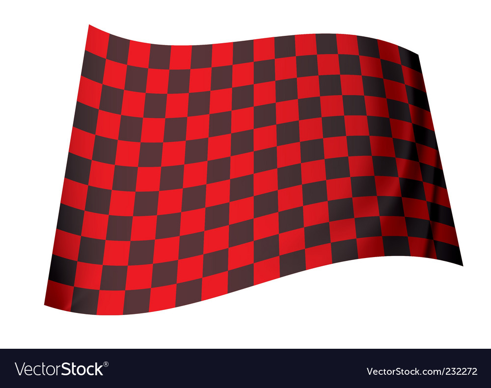 Red checkered flag vector | Price: 1 Credit (USD $1)