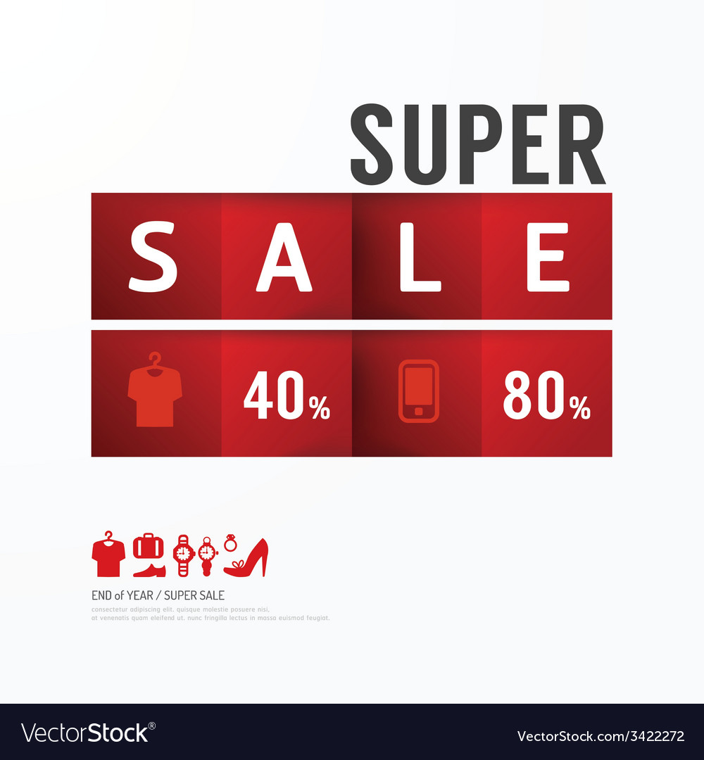 Sale discount icons styled advertising tag vector | Price: 1 Credit (USD $1)
