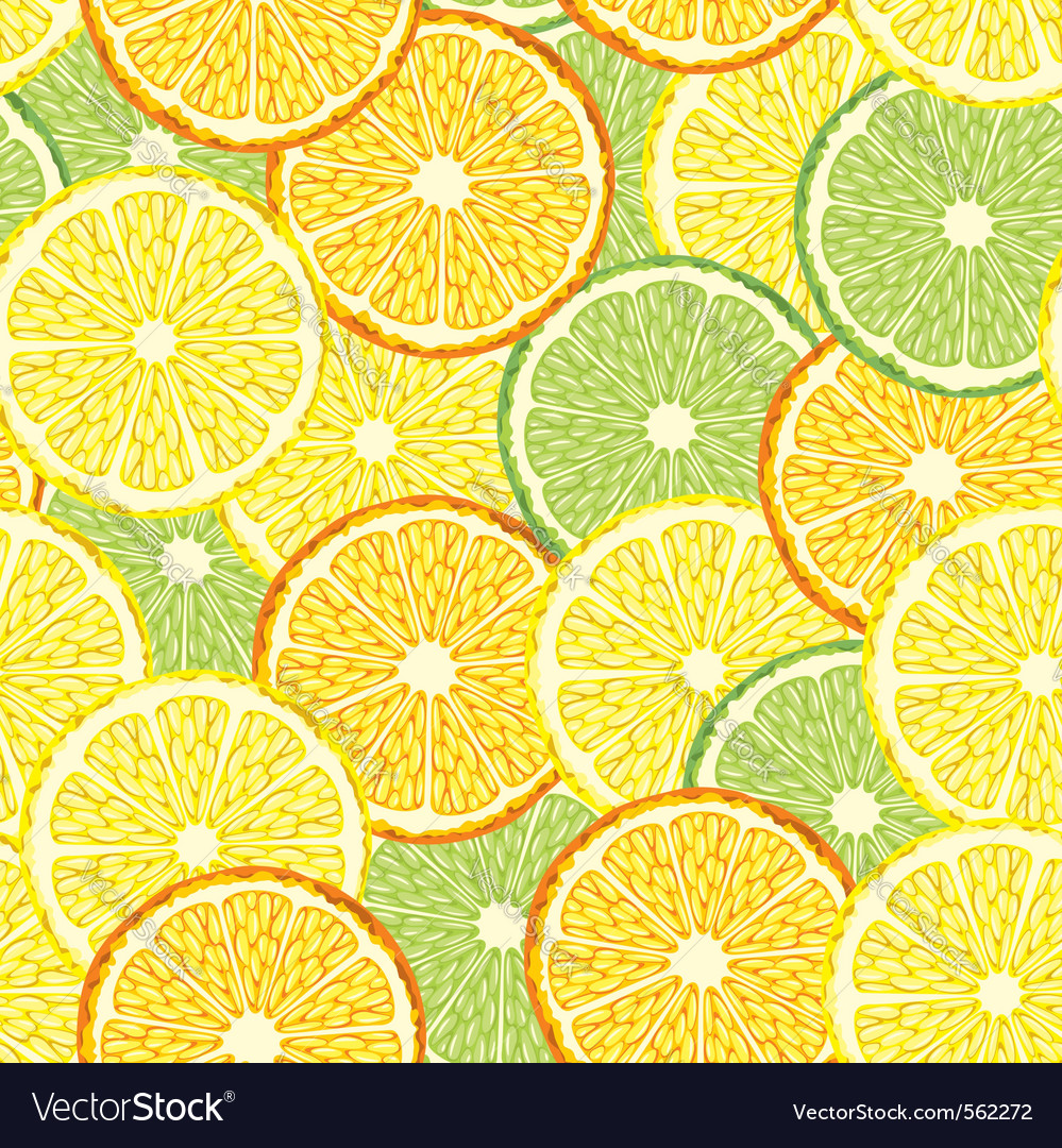 Seamless slices of citrus fruit vector | Price: 1 Credit (USD $1)