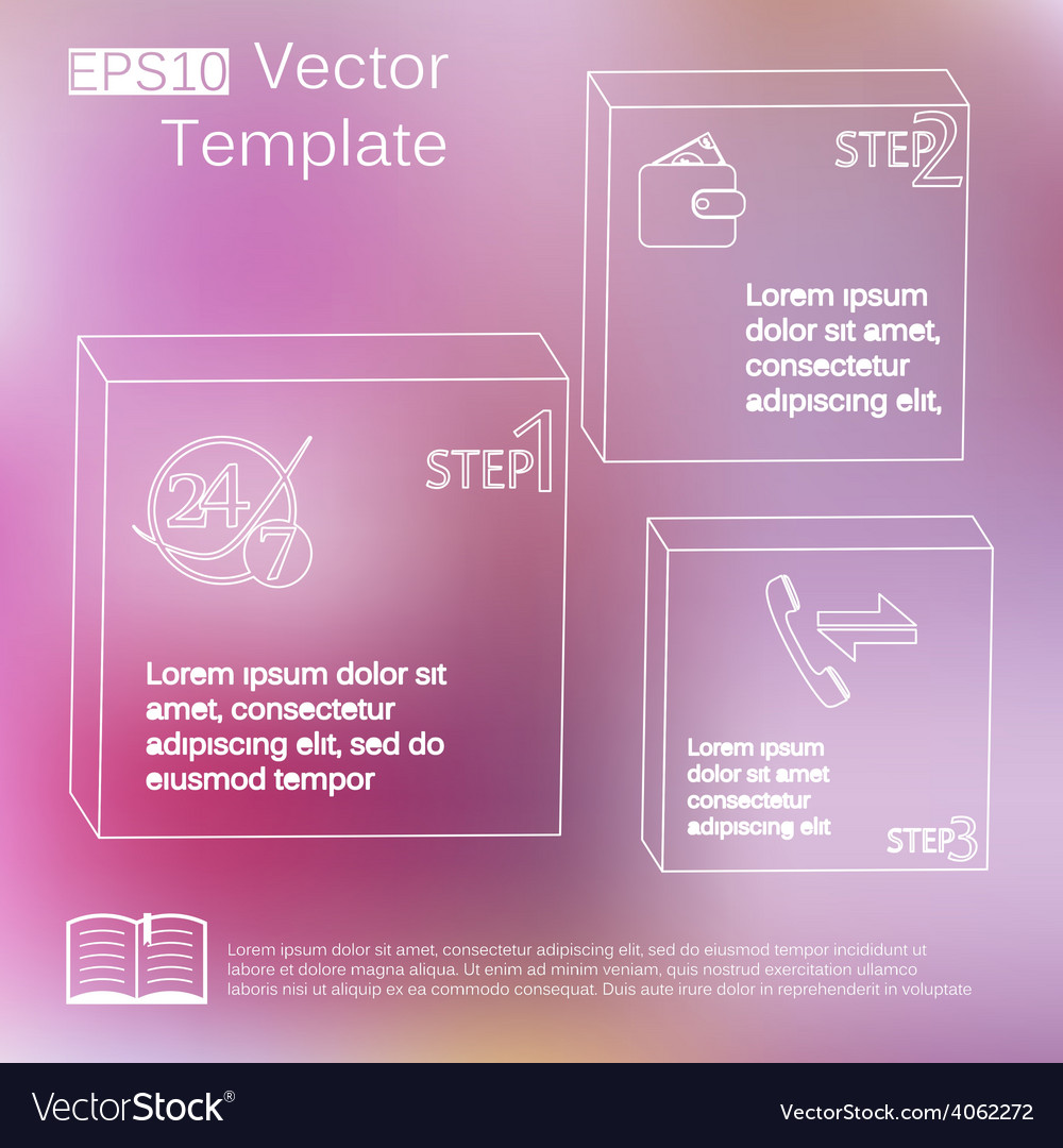 Subtle elements of infographics thin style on blur vector | Price: 3 Credit (USD $3)