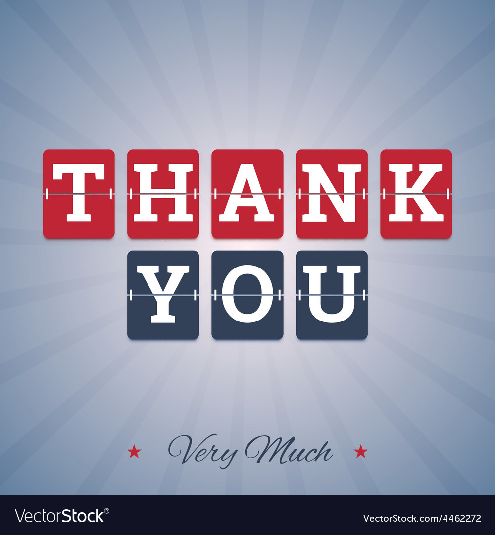 Thank you very much vector | Price: 1 Credit (USD $1)
