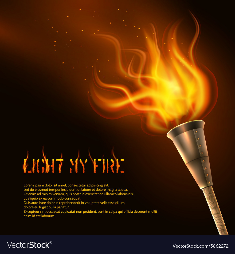 Torch realistic background vector | Price: 1 Credit (USD $1)