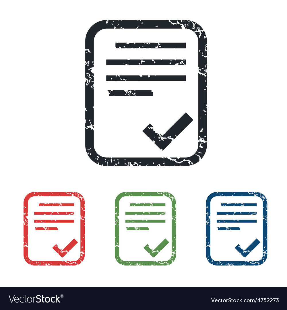 Accepted document grunge icon set vector   Price: 1 Credit (USD $1)
