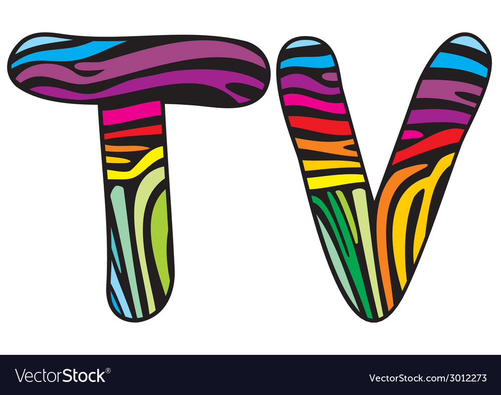 Background skin zebra shaped letter t v vector | Price: 1 Credit (USD $1)