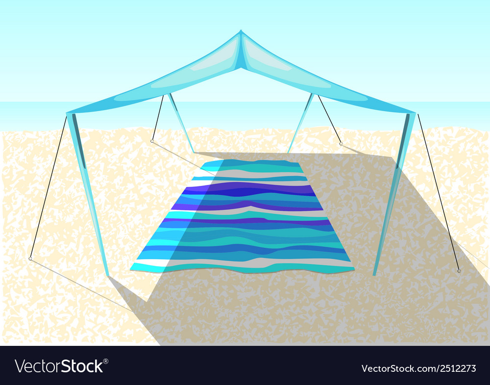Beach tent on a sand vector | Price: 3 Credit (USD $3)