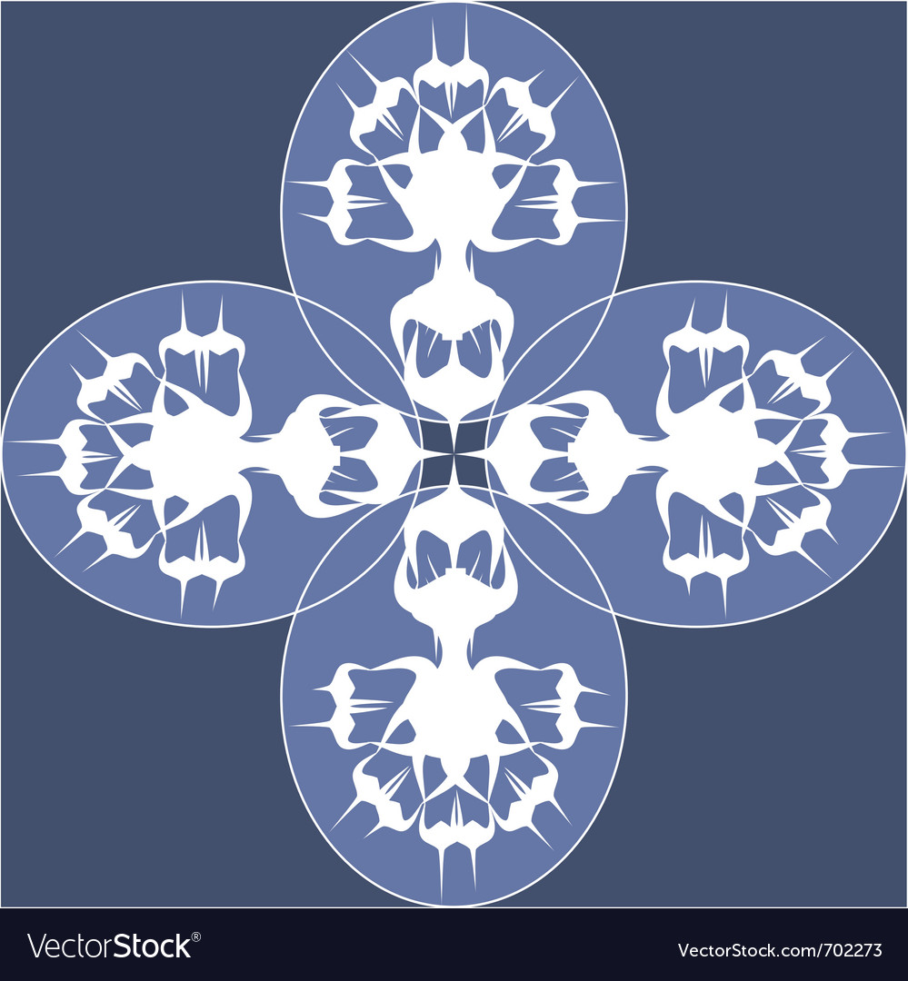 Blue wild flowers vector | Price: 1 Credit (USD $1)