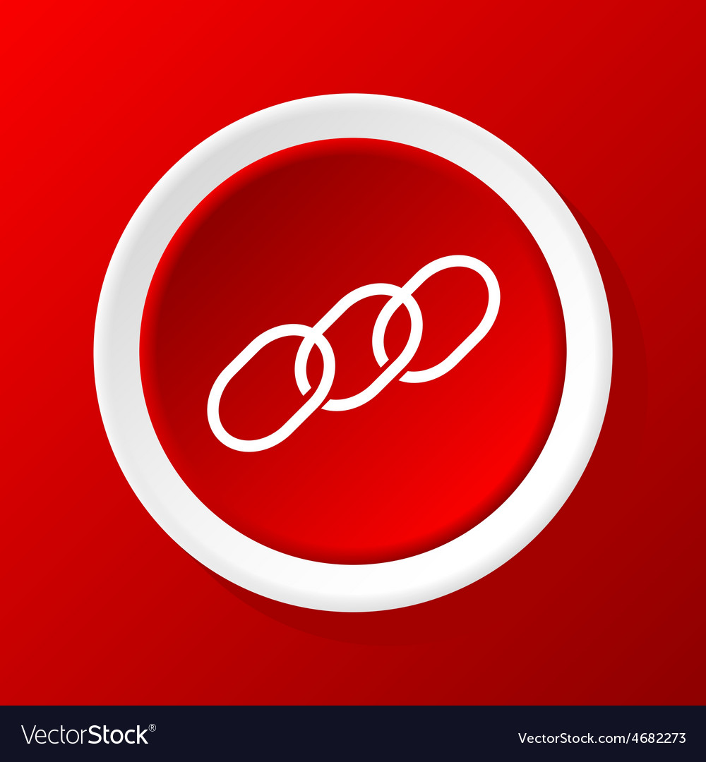 Chain icon on red vector | Price: 1 Credit (USD $1)