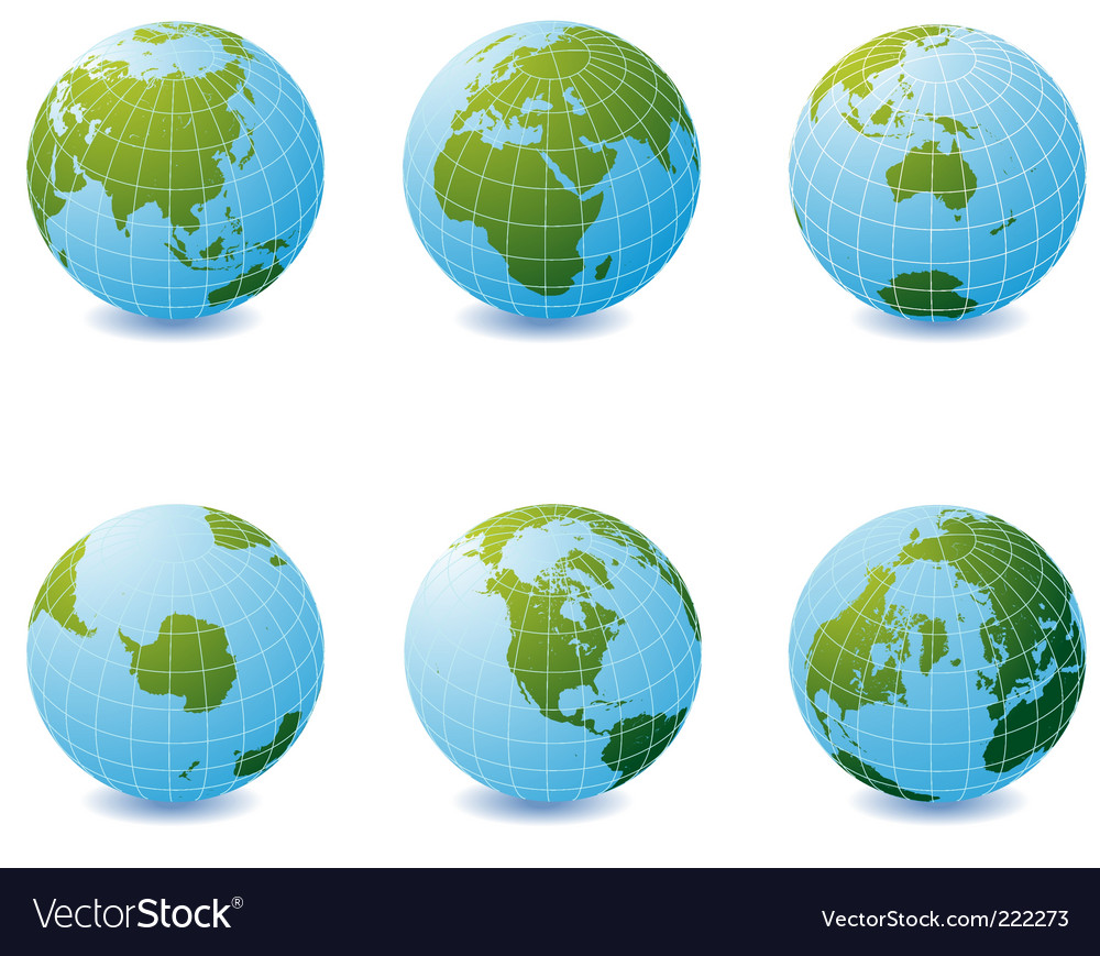 Earth globe icons vector   Price: 1 Credit (USD $1)