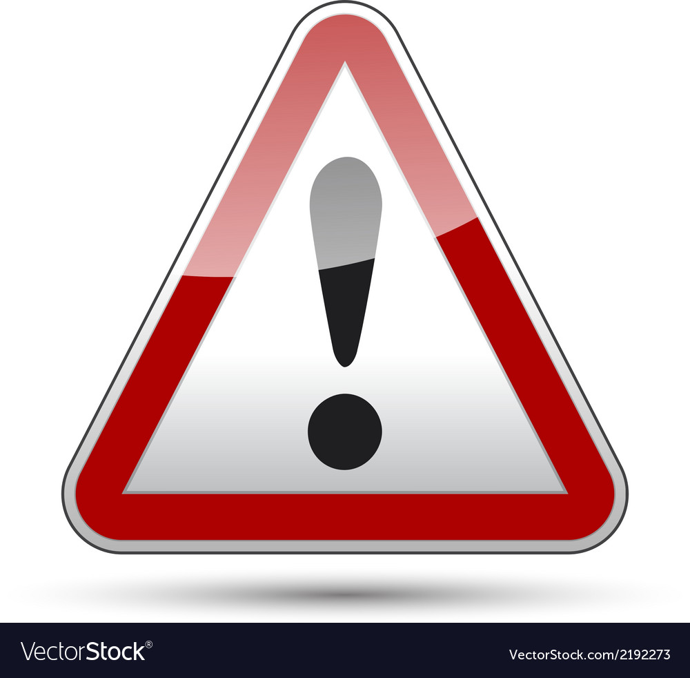 Exclamation mark danger triangle vector   Price: 1 Credit (USD $1)