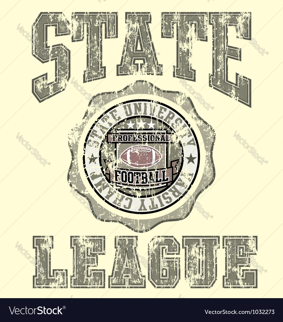 Football varsity champ league vector | Price: 1 Credit (USD $1)