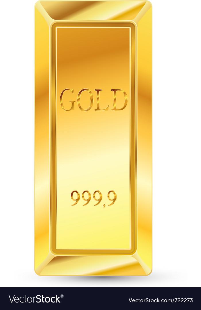 Gold bar vector | Price: 1 Credit (USD $1)
