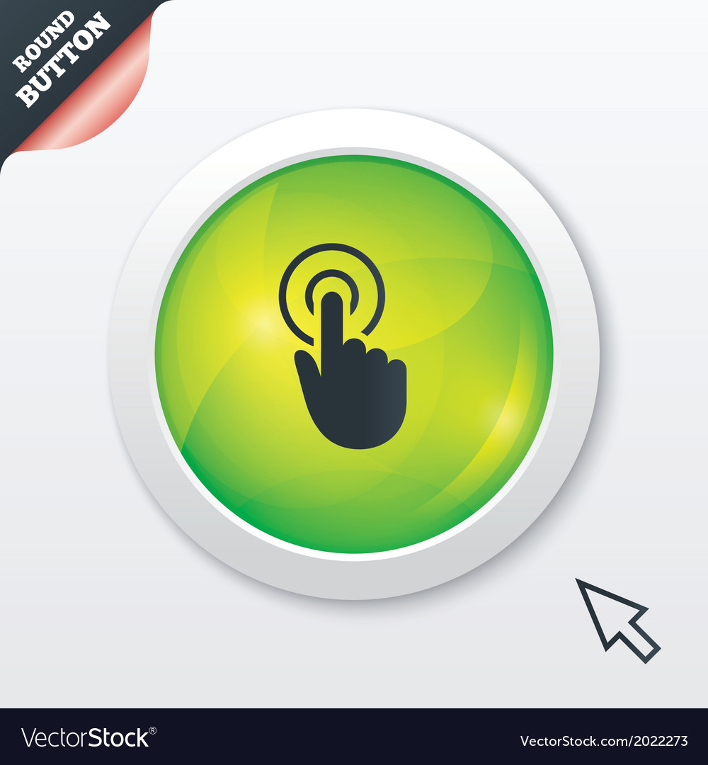 Hand cursor sign icon hand pointer symbol vector | Price: 1 Credit (USD $1)