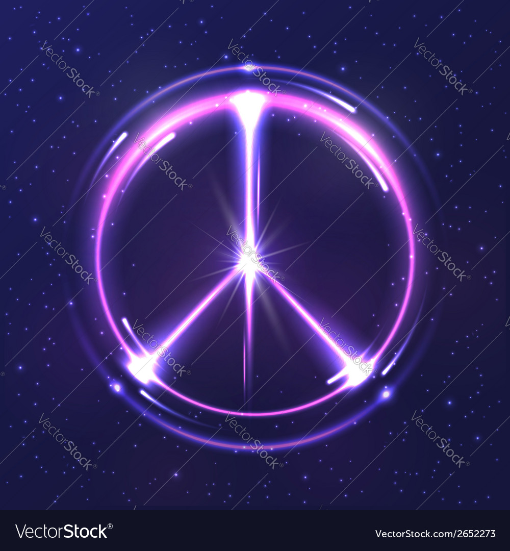 Neon light pacific symbol vector | Price: 1 Credit (USD $1)