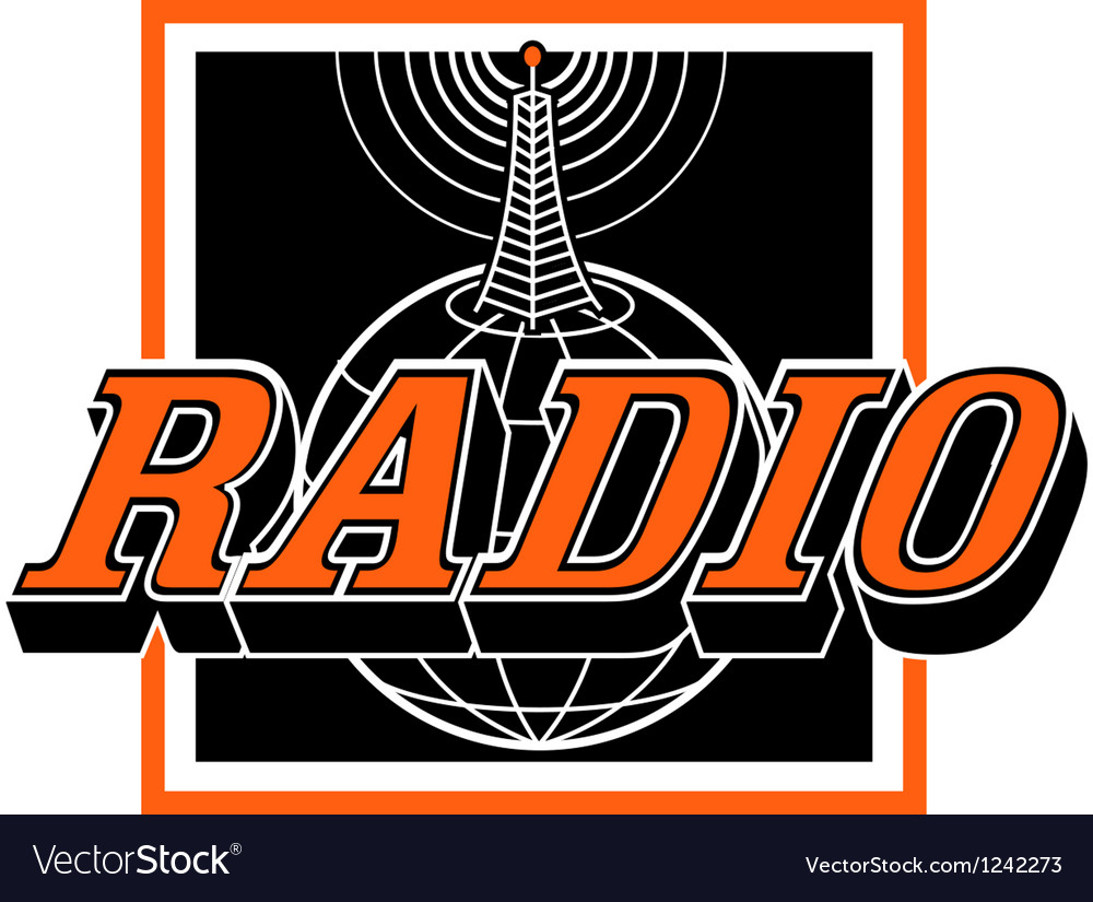 Radio broadcast logo vector | Price: 1 Credit (USD $1)