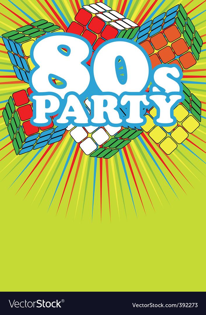 Retro party background vector | Price: 1 Credit (USD $1)