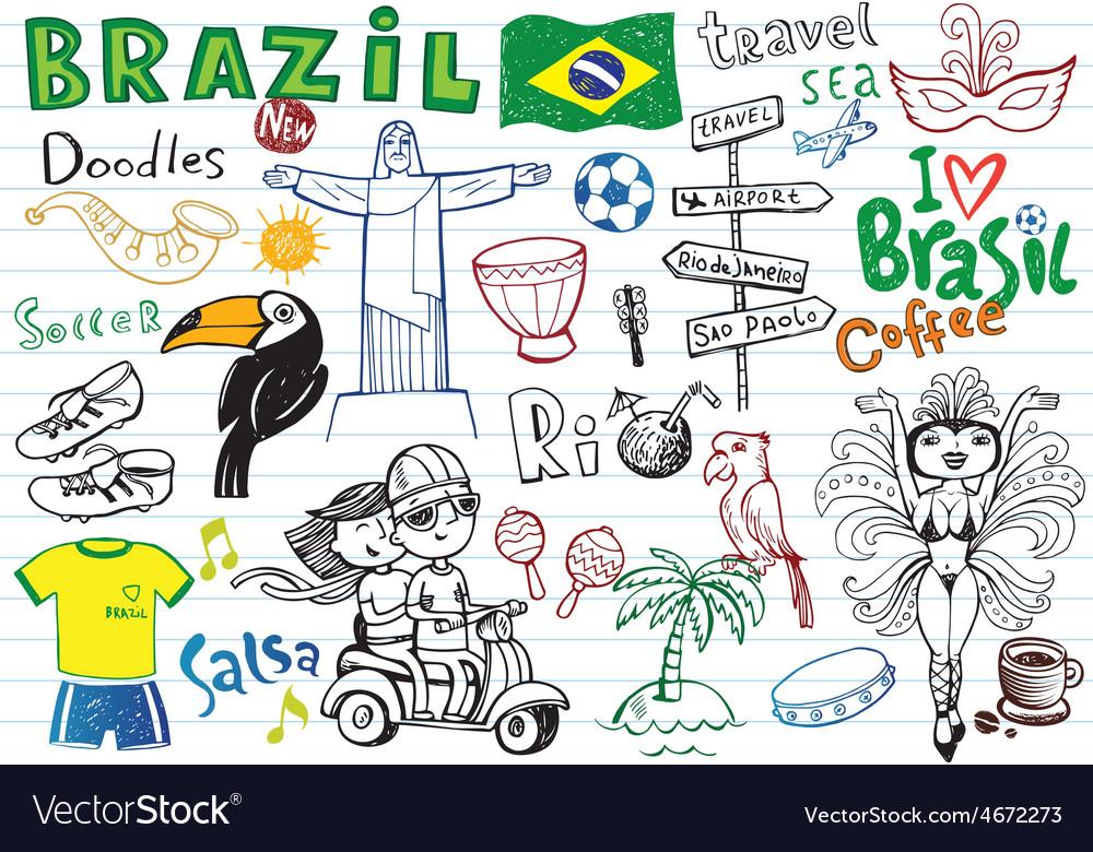 Symbols of brazil vector | Price: 1 Credit (USD $1)