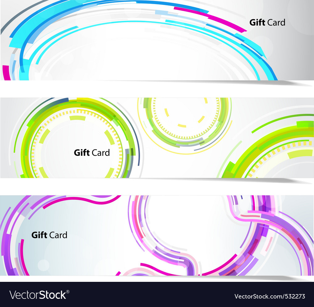 Technology banners vector | Price: 1 Credit (USD $1)