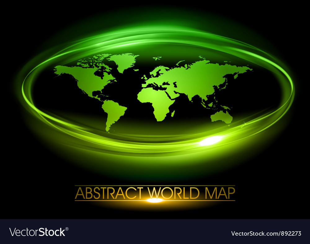 World abstract circle on black green vector | Price: 3 Credit (USD $3)