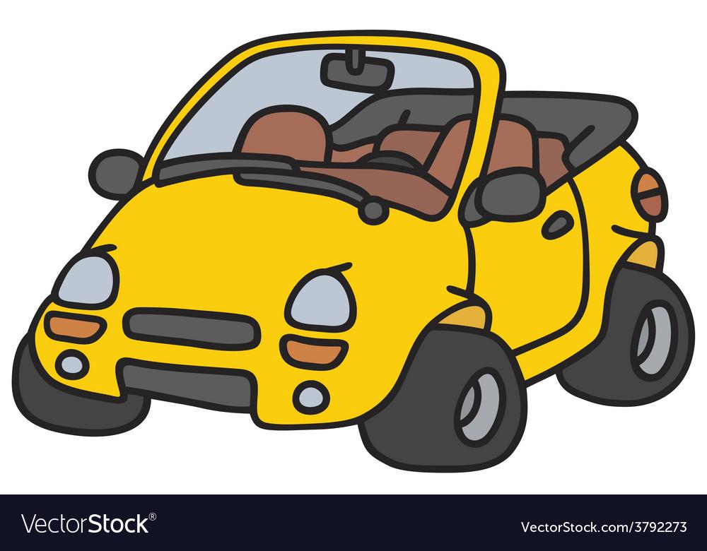 Yellow cabriolet vector | Price: 1 Credit (USD $1)