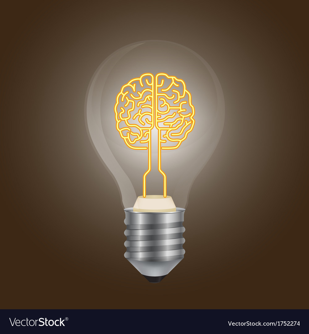 Brain lamp vector | Price: 1 Credit (USD $1)