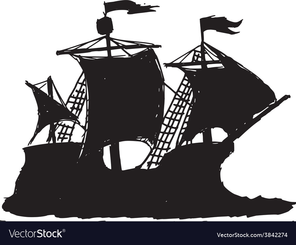 Caravel vector | Price: 1 Credit (USD $1)