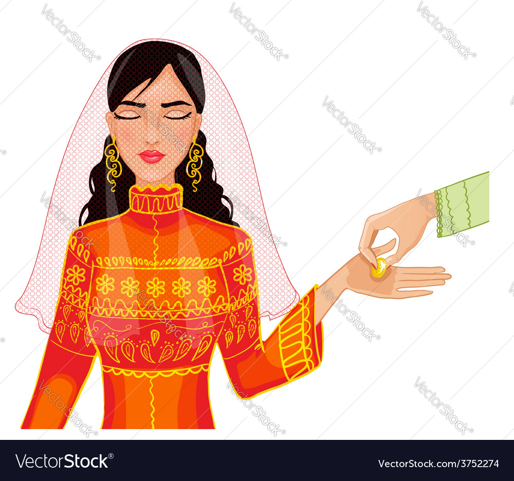 Ceremony at henna night kina gecesi vector | Price: 1 Credit (USD $1)