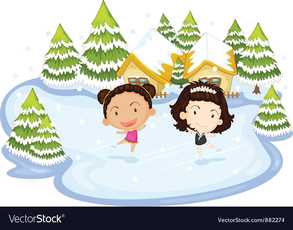 Dancing on ice vector | Price: 5 Credit (USD $5)