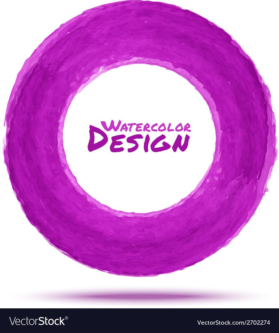 Hand drawn watercolor purple circle design element vector | Price: 1 Credit (USD $1)