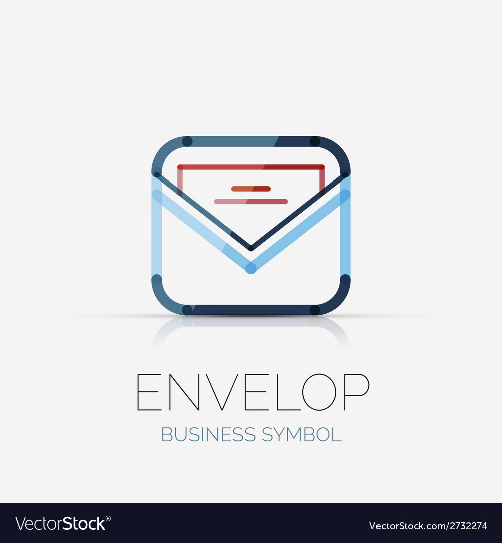 Open envelop company logo business concept vector | Price: 1 Credit (USD $1)