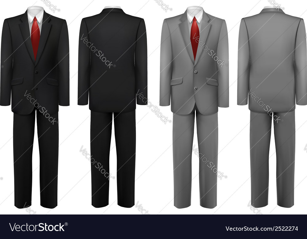 Set of black and grey suits vector | Price: 1 Credit (USD $1)