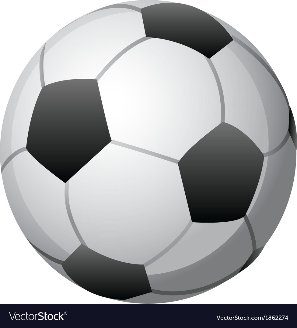 Soccer ball on white vector | Price: 1 Credit (USD $1)