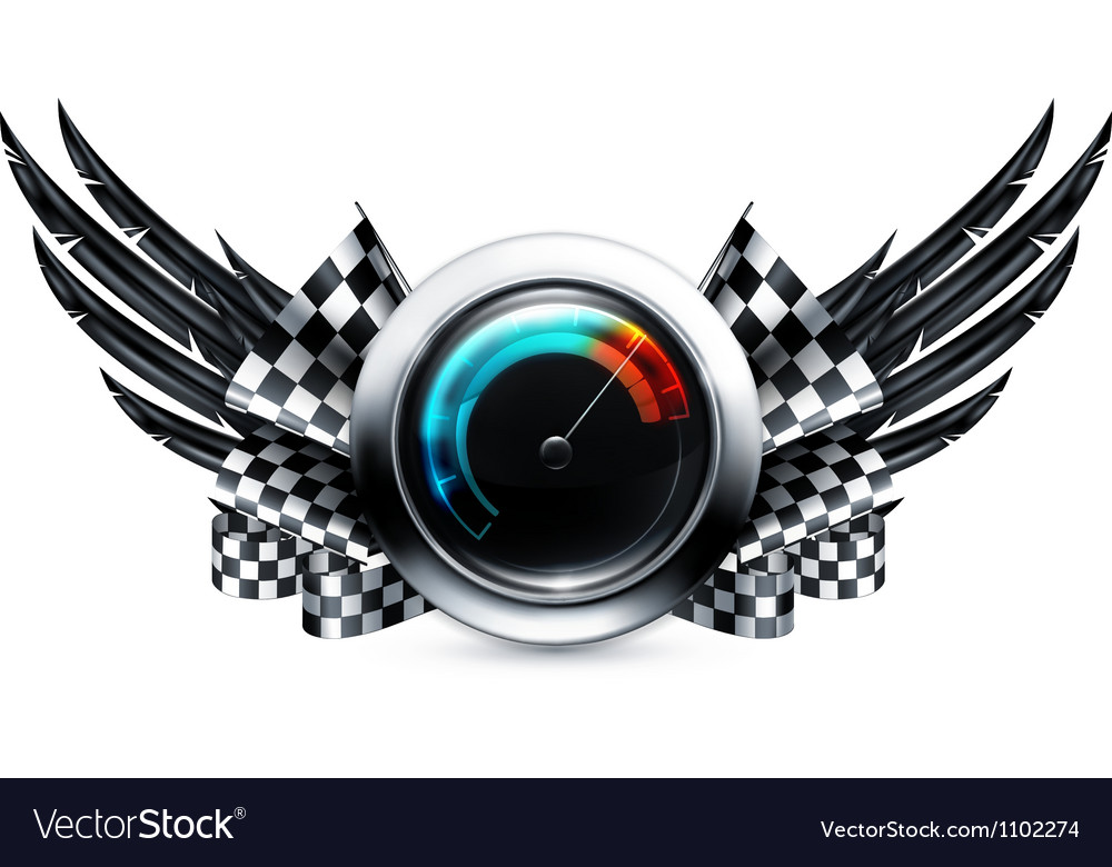 Speedometer emblem vector | Price: 1 Credit (USD $1)