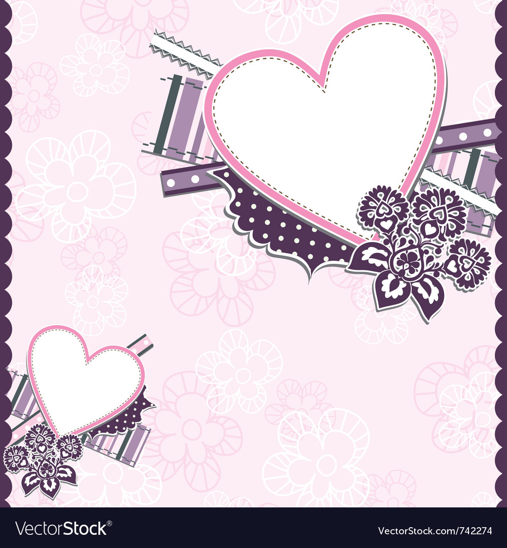Template heart greeting card vector | Price: 1 Credit (USD $1)