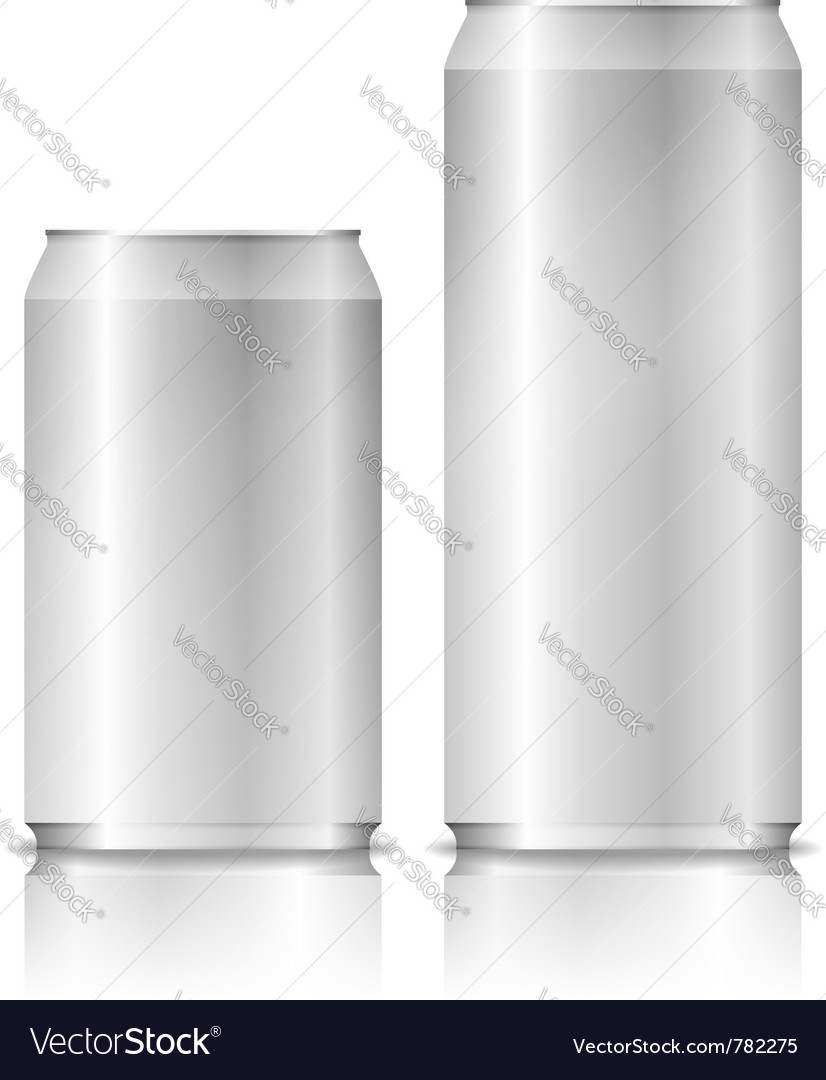 Aluminium cans vector | Price: 1 Credit (USD $1)