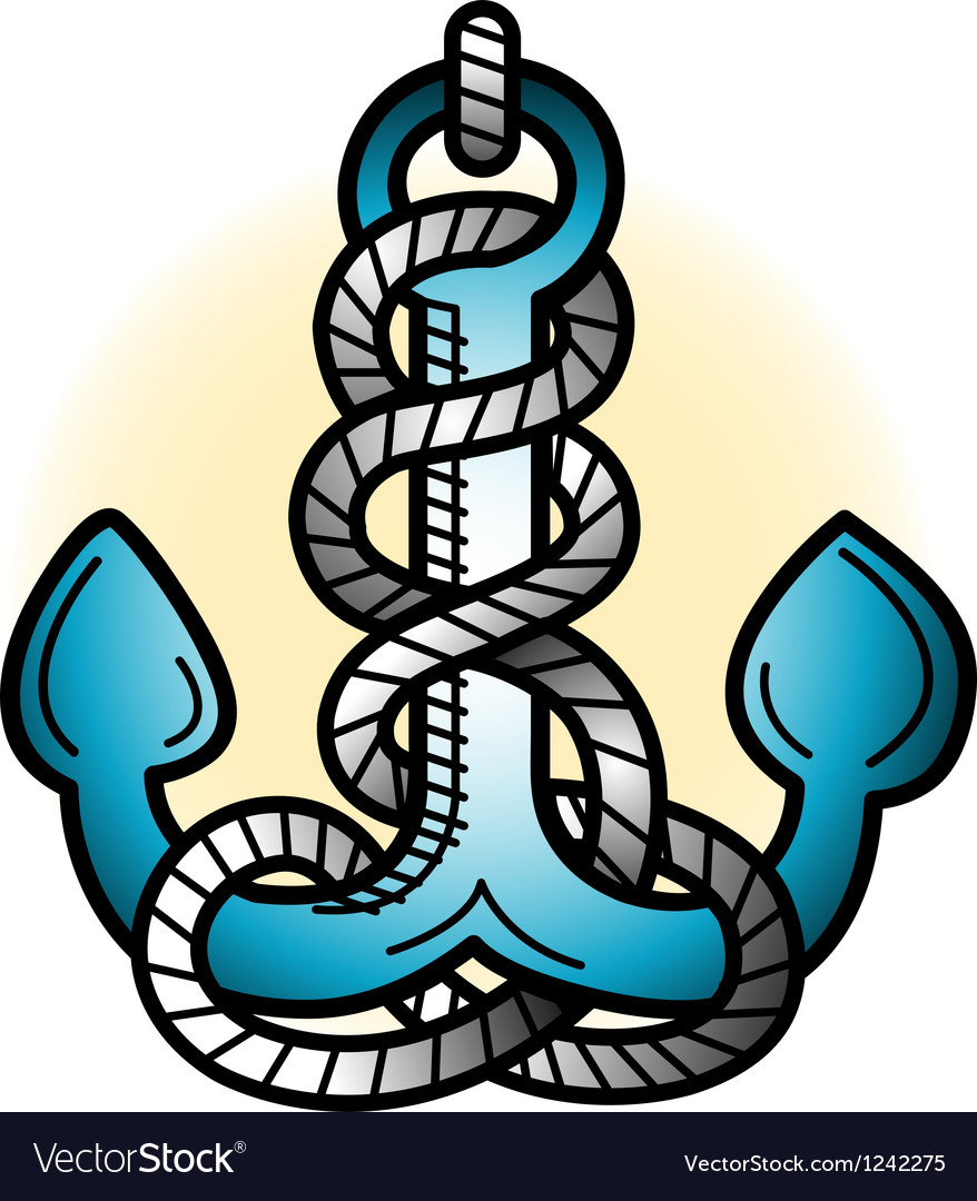 Anchor tattoo art vector | Price: 1 Credit (USD $1)